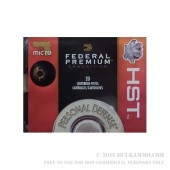 20 Rounds of .380 ACP Ammo by Federal Premium - 99gr HST JHP